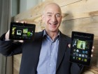 jeff bezos with Kindle Fire HDX