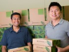 NatureBox founders Gautam Gupta (left) and Ken Chen