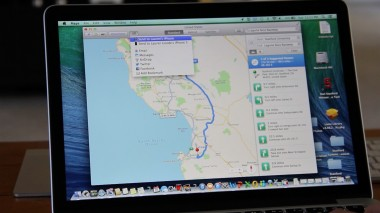 Apple Maps on a Mavericks desktop lets you send directions directly from the desktop to an iPhone, provided it's running iOS 7.