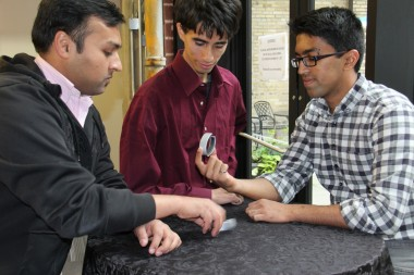 Airo's three founders are recent University of Waterloo engineering graduates. Jayakumar is on the right.