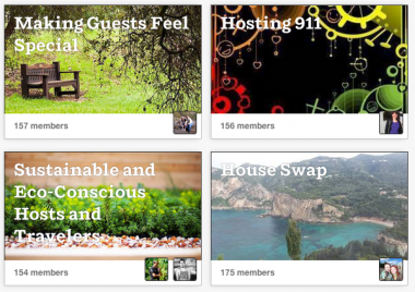 Airbnb's host tools now include groups for them to swap tips.