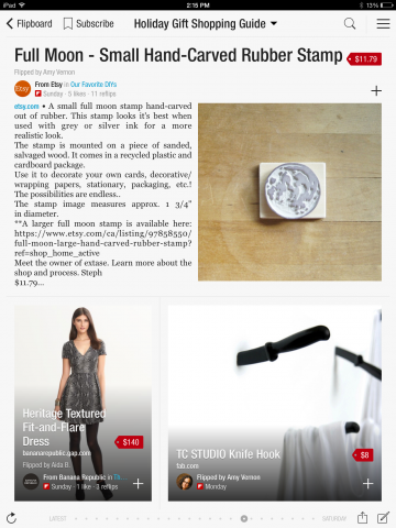 Flipboard Curated Holiday Shopping Catalog