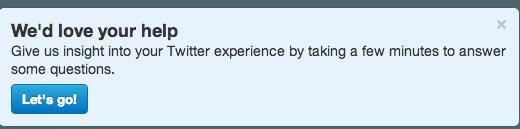Twitter survey 1