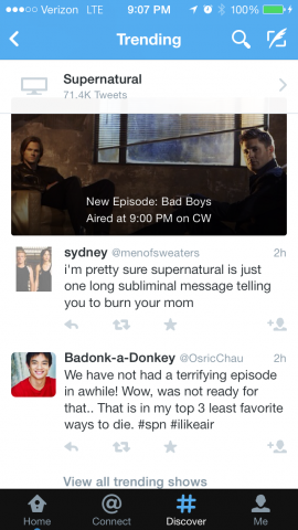 twitter tv supernatural
