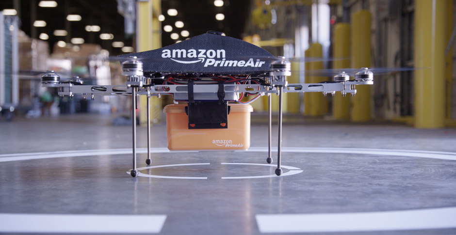 Amazon's Futuristic Delivery Method? Prime Air — Kindles Delivered by Drone.