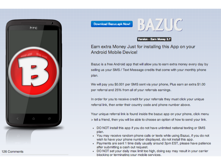Bulk-SMS App Maker Bazuc Responds to Lookout's Claims - Ina Fried