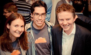 CloudFlare co-founders, left to right, Michelle Zatlyn, Lee Holloway and Matthew Prince