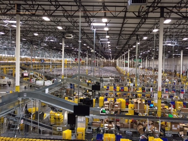 This Is What It Looks Like Inside an Amazon Warehouse