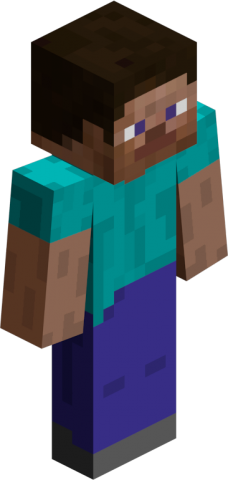 The default Minecraft avatar, Steve.