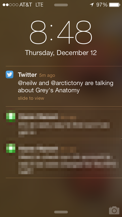 twitter push notification